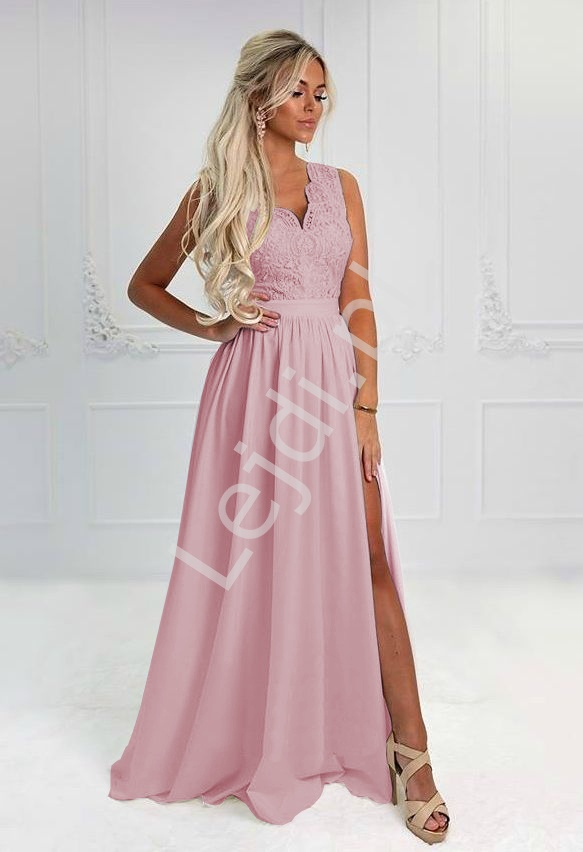 Cukierkowo różowa sukienka wieczorowa - Juliette 2 - Lejdi