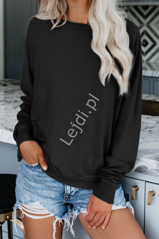 Czarna klasyczna bluza damska 459 - Lejdi