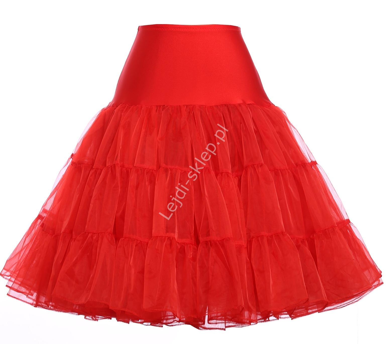 Czerwona spódnica Pin-Up, czerwona halka pod sukienkę | czerwone halki do sukienek pin-up - Lejdi