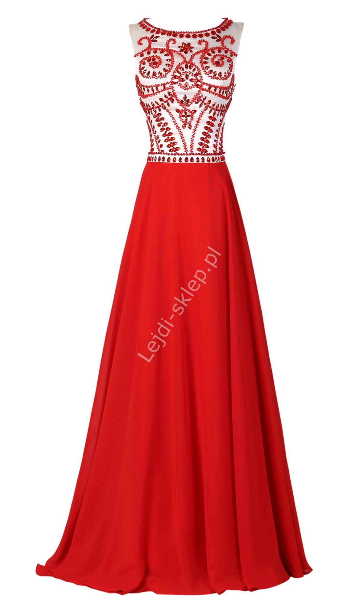 6ef88f5ef2 Długa czerwona suknia wieczorowa w stylu Sherri Hill 11146 - Lejdi.pl