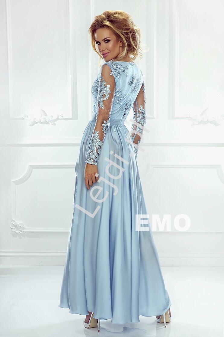 e2a36957fb Długie suknie wieczorowe z rozcięciem w kolorze butelkowej zieleni - Luna