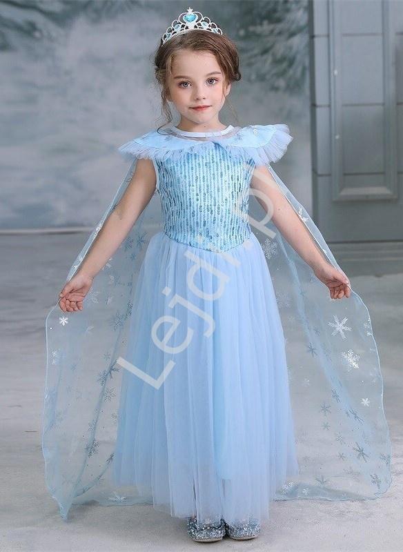 Dziecięca sukienka z bajki FROZEN, przebranie Elza - Lejdi