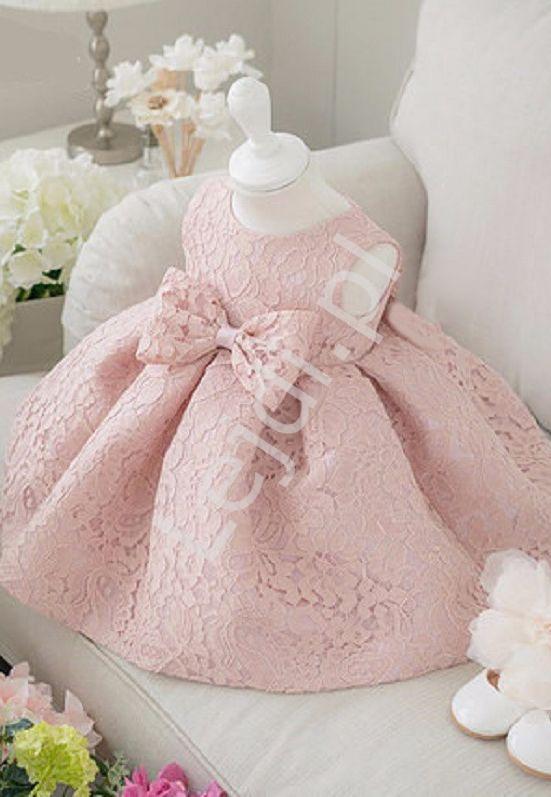 Elegancka koronkowa sukienka dla dziewczynki na urodziny, święta - Lejdi