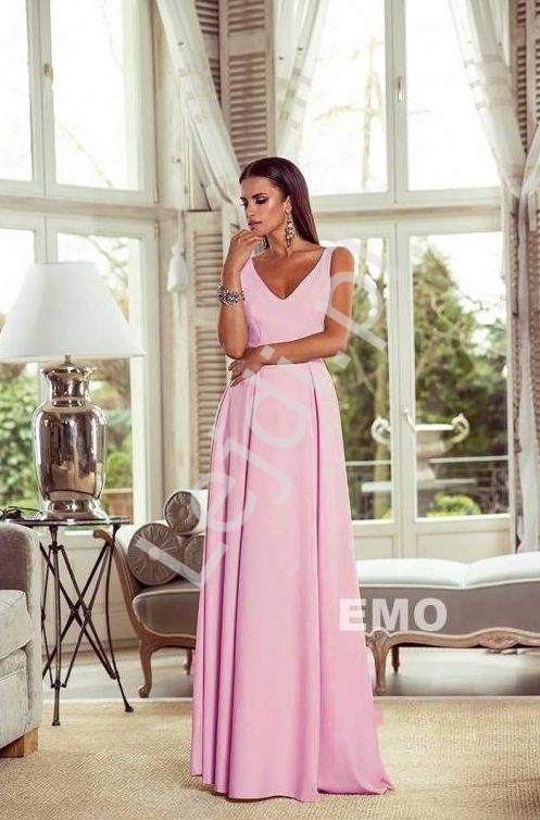 Elegancka sukienka na wesele Klaudia o prostym kroju