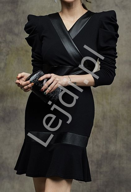 Elegancka wizytowa sukienka midi 4179 - Lejdi