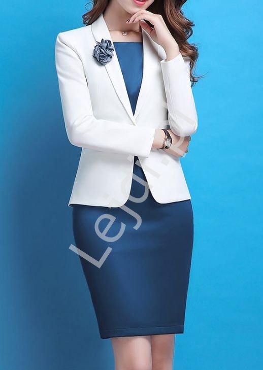 Elegancki dwu częściowy komplet, sukienka i żakiet 5431 - Lejdi