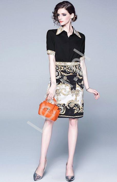 Spódnica w eleganckie wzory - Lejdi