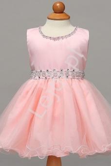 210a947232 Jasno różowa sukienka dla dziewczynki na roczek