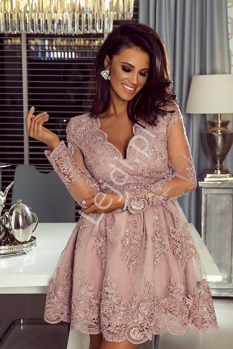 80fc8705e4 Krótka sukienka wieczorowa na wesele
