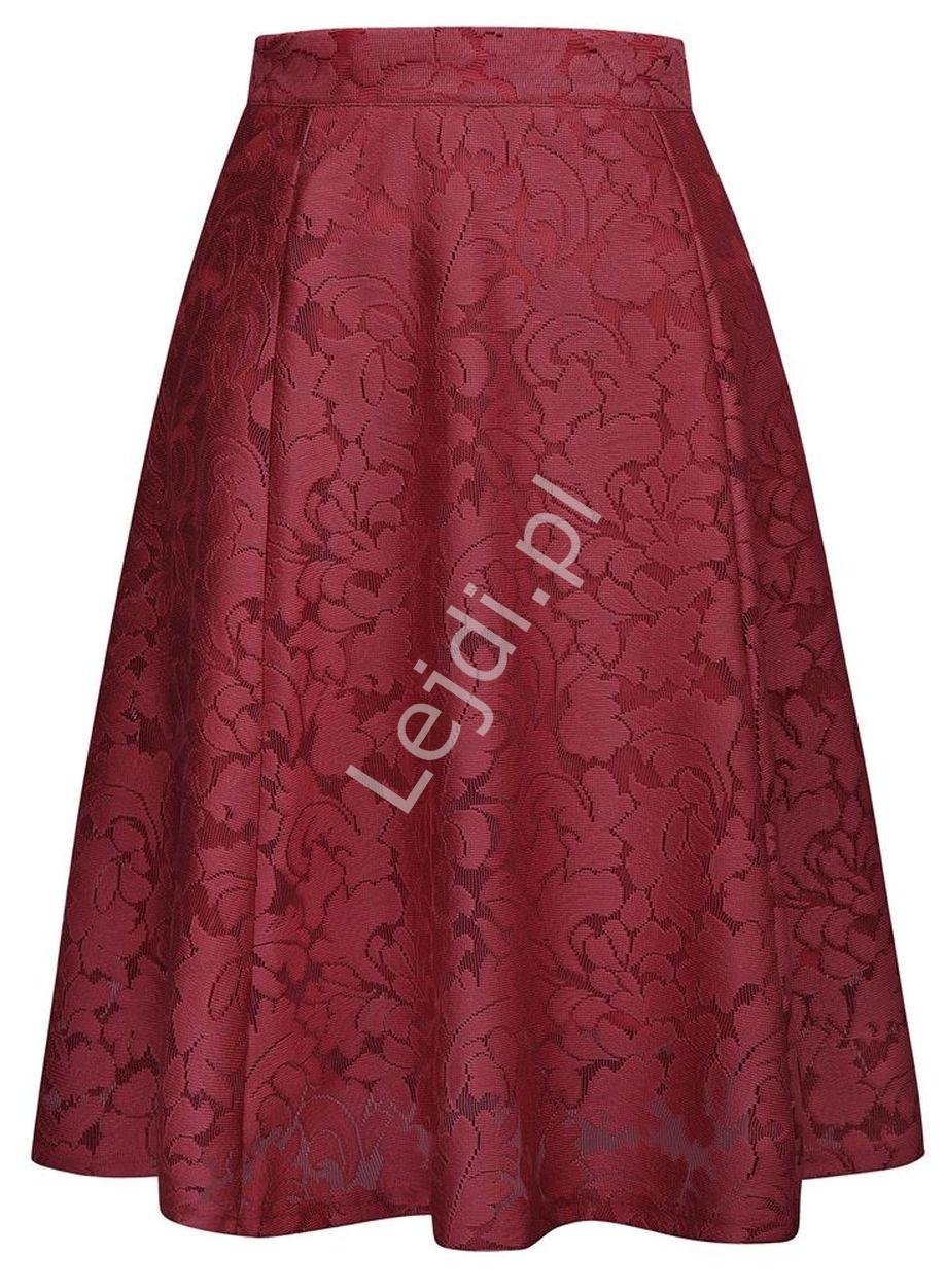 Koronkowa spódnica w kolorze wina 236 - Lejdi