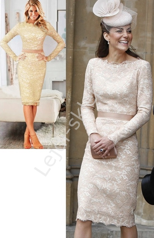 Koronkowa sukienka w stylu Kate Middleton - Lejdi