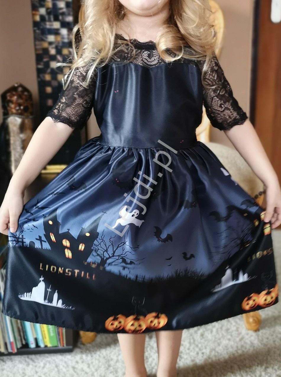 Kostium czarownica, przebranie na Halloween lub bal przebierańców, sukienka czarownicy - Lejdi