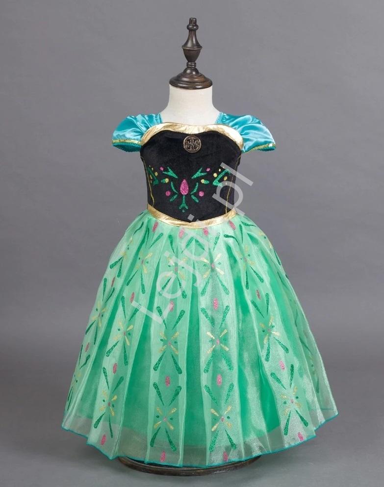 Księżniczka Anna z Krainy Lodu sukienka dla dziewczynki na bal - Lejdi