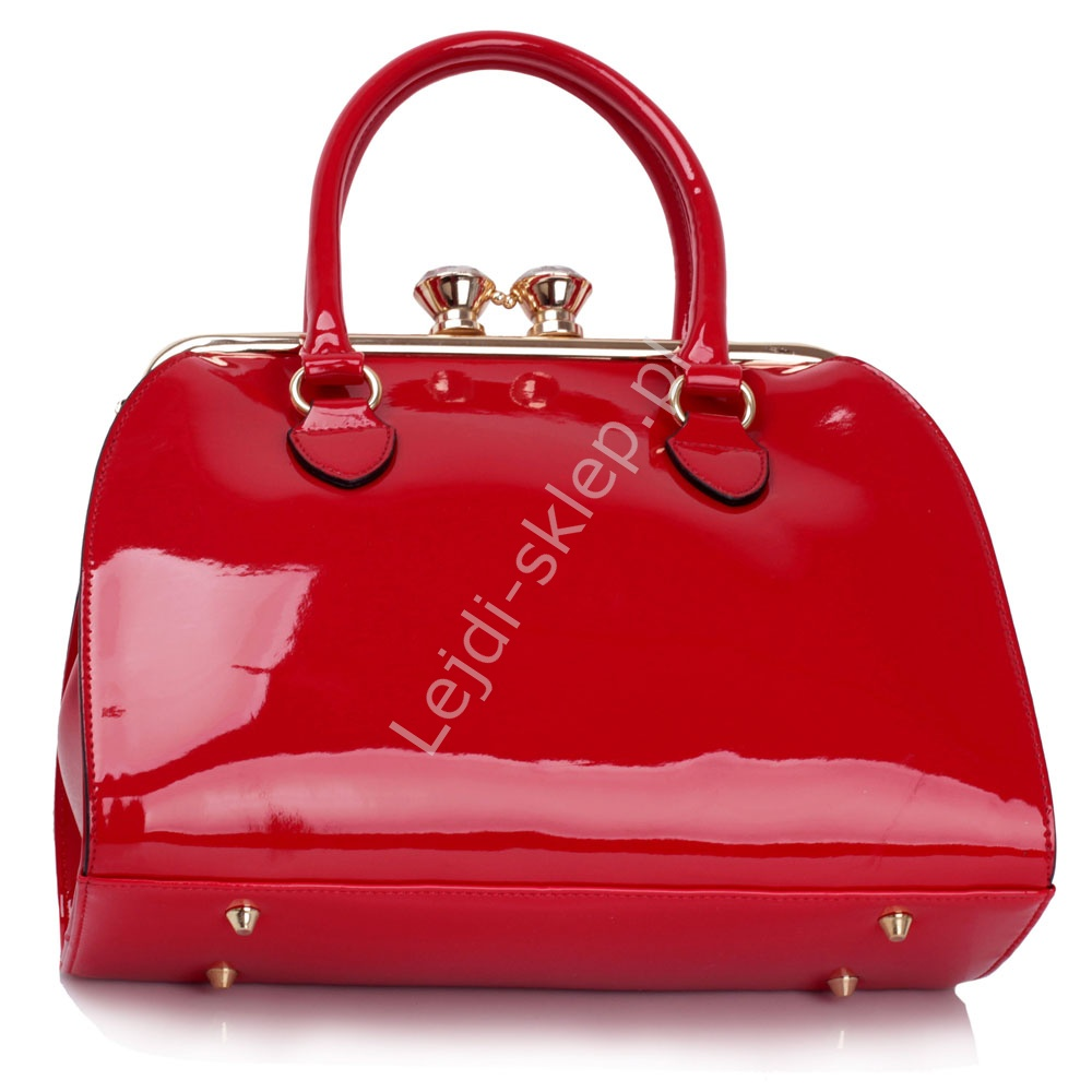 b9503bb02b8a5 Lakierowana czerwona torebka damska - lakierowane torebki