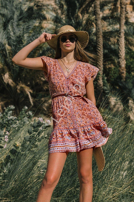 Letnia sukienka na guziczki 964 - Lejdi