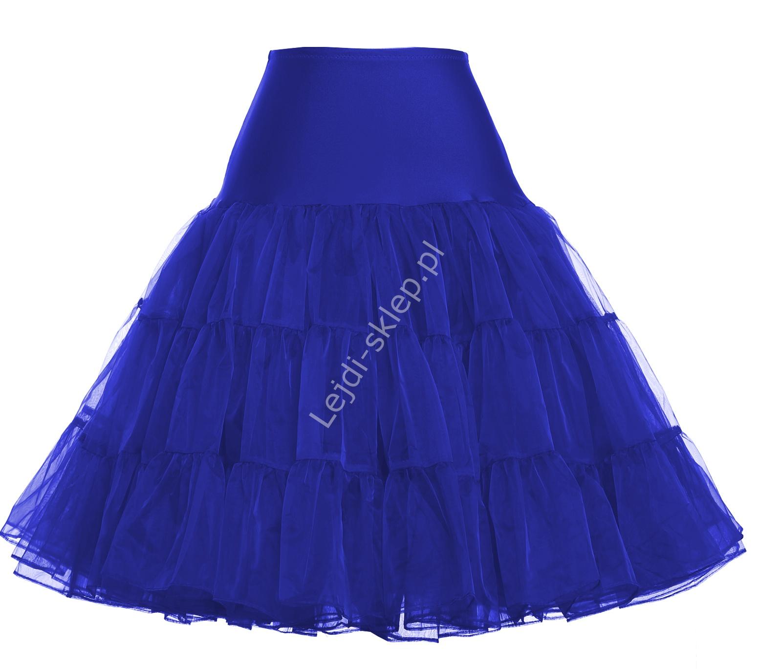 Niebieska spódnica Pin-Up, niebieska halka pod sukienkę | niebieskie halki do sukienek pin-up - Lejdi