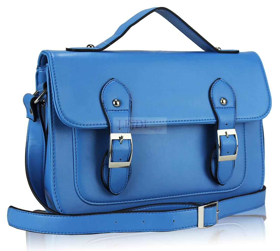 17f6aacd8db0b Niebieska torebka listonoszka 1-2 - Lejdi.pl