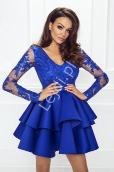 596ec8a0d7 Rozkloszowana sukienka koronkowa w kolorze fuksji - Amelia - Lejdi.pl