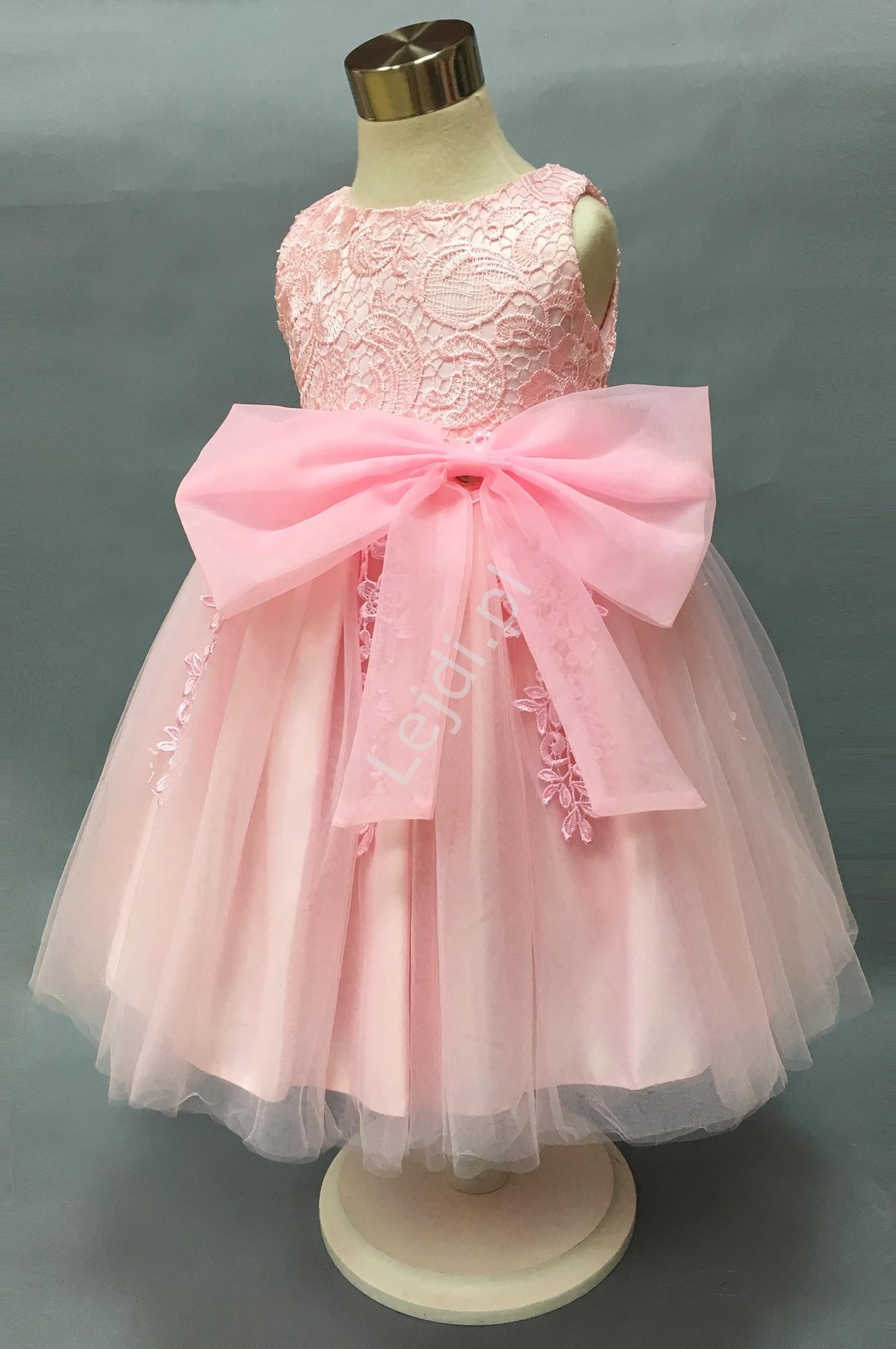 2e0be44a13 Przepiękna różowa sukienka dla dziewczynki