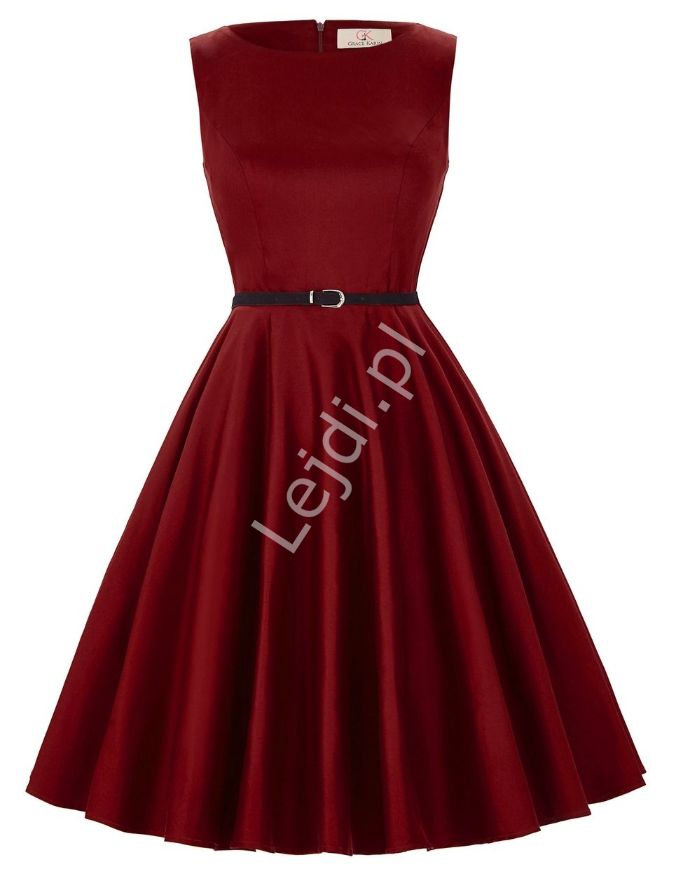 951eb6de94 Rozkloszowana sukienka retro
