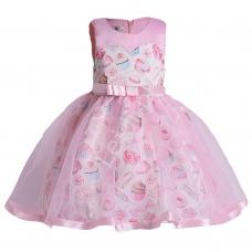 1b017dbf07 Różowa sukienka dla dziewczynki z lizakami