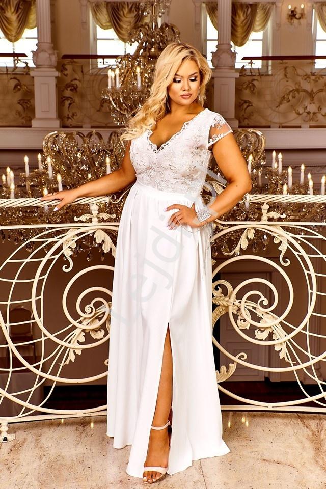 Ślubna delikatna sukienka z koronką Chantell - Lejdi