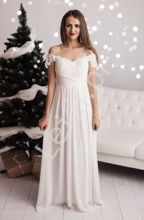 Zupełnie nowe Ślubna suknia z drapowanym gorsetem i koronką z perełkami i VK82