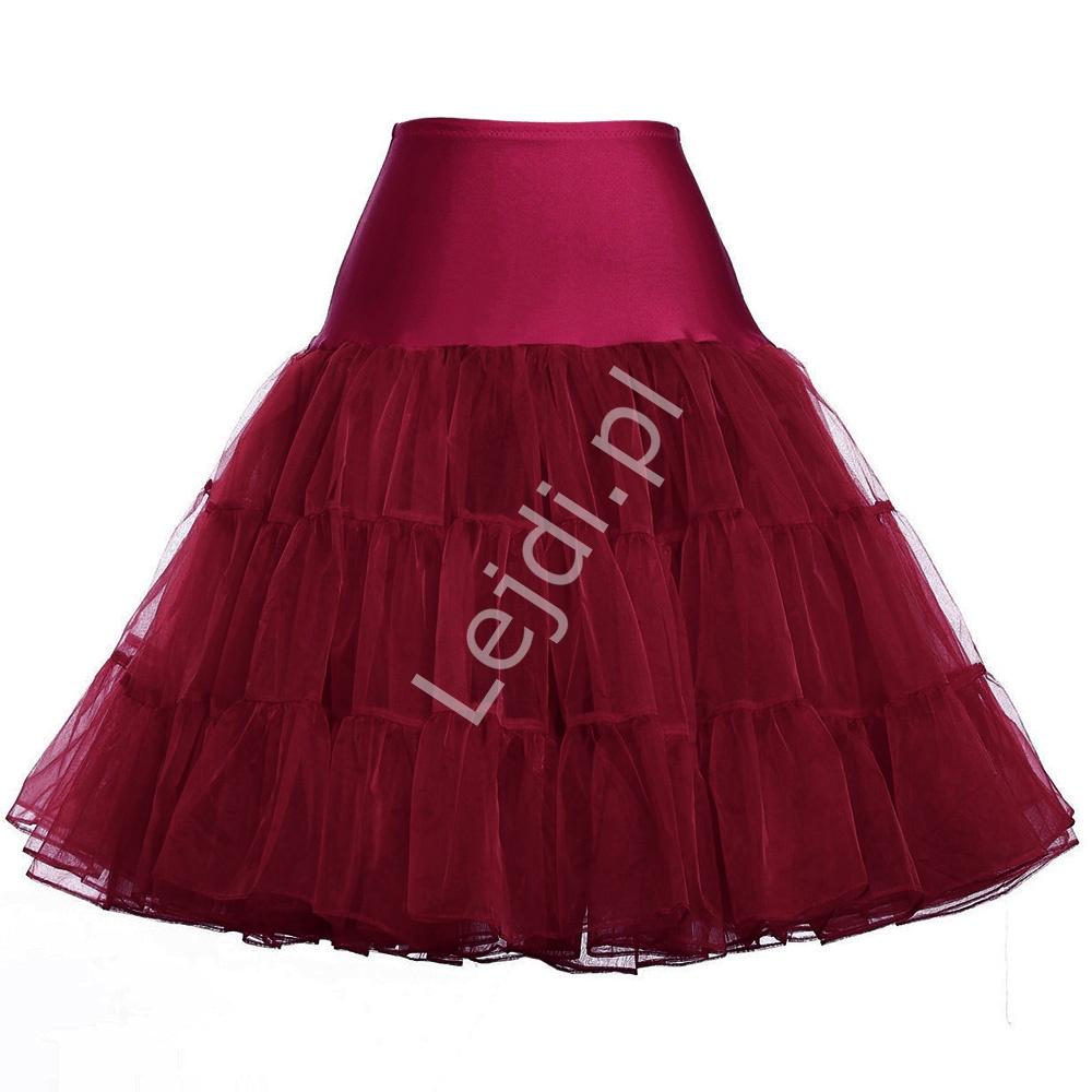 Spódnica ciemne wino Pin-Up, halka pod sukienkę w kolorze ciemnego wina | halki do sukienek pin-up - Lejdi