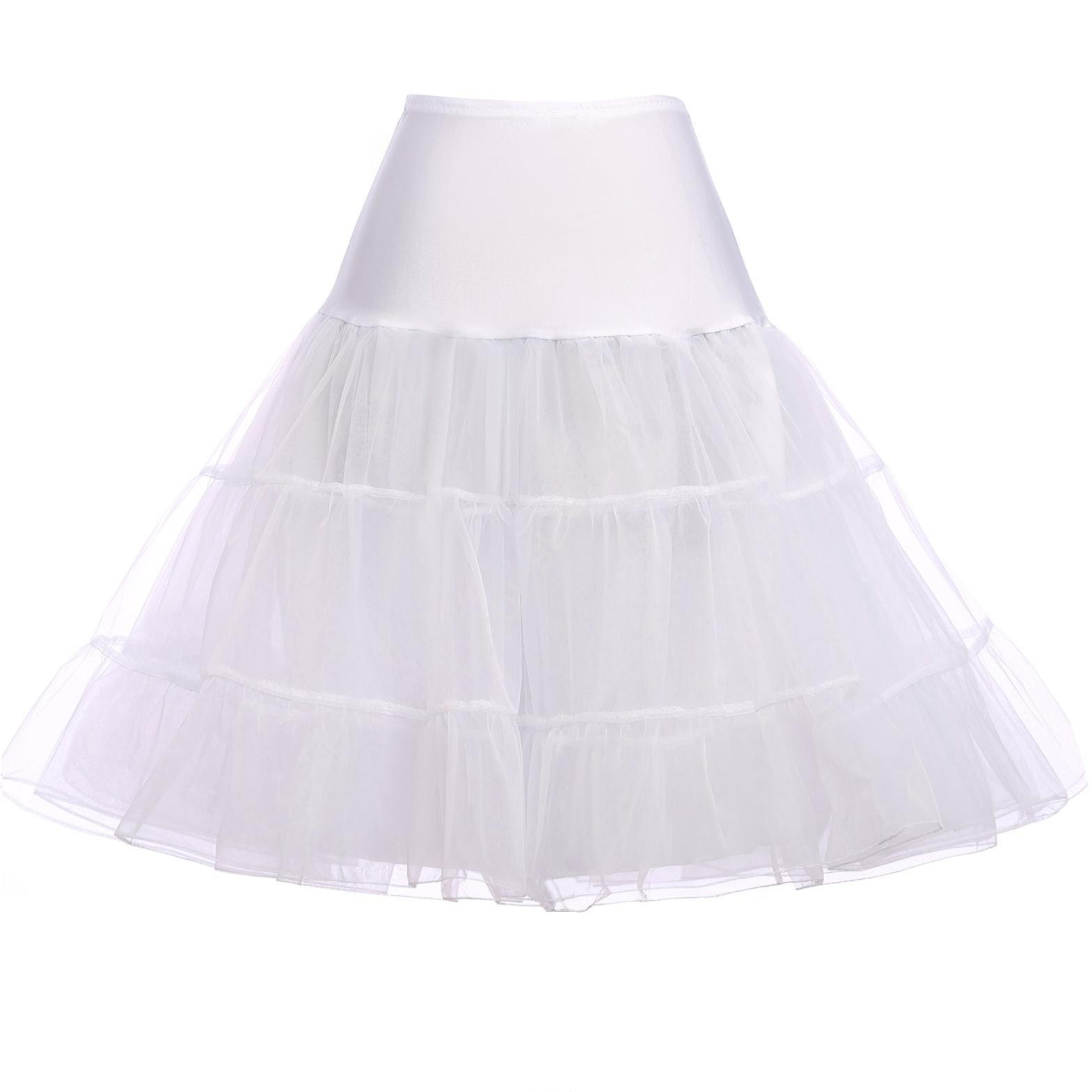Spódnica Pin-Up, halka pod sukienkę biała - Lejdi