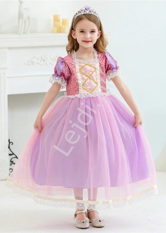 Sukienka dla dziewczynki na bal, kostium Roszpunka 2120 - Lejdi