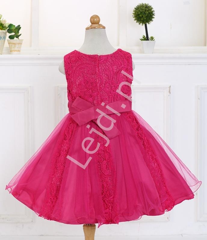 f38980fcc4 Sukienka dla dziewczynki w kolorze fuksji - Lejdi.pl