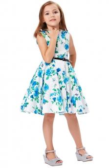 cf7de04137 Sukienka dla dziewczynki w niebieskie kwiaty