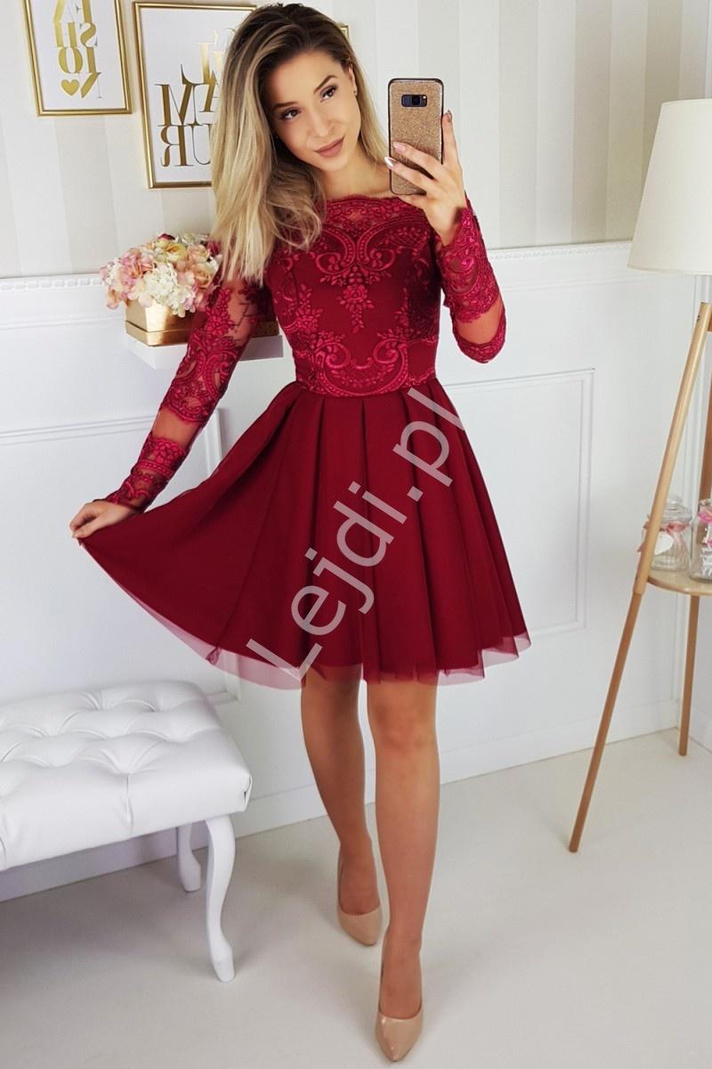 Sukienka Hiszpanka z rozkloszowanym szyfonowym dołem 2137-10 - Lejdi