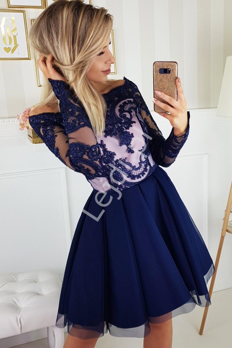 Sukienka wieczorowa Hiszpanka z rozkloszowanym szyfonowym