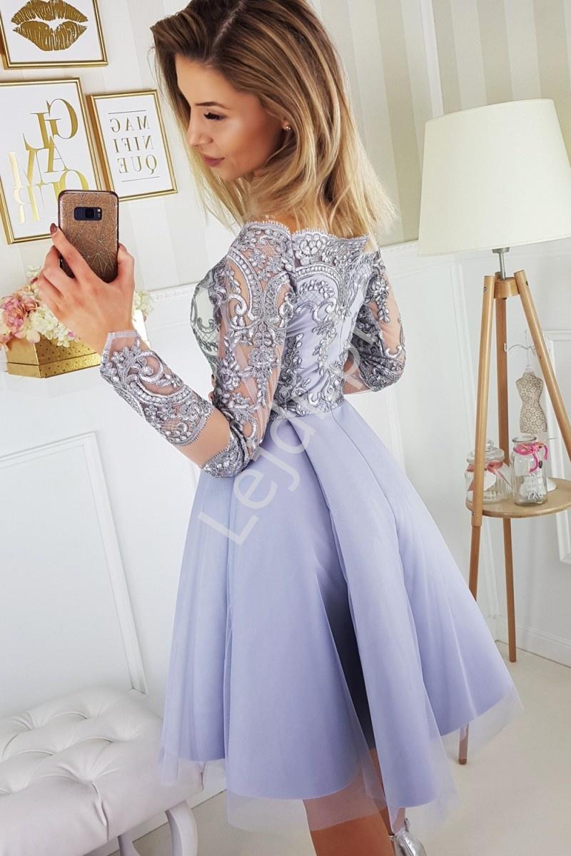 bd6eeacaf9 Sukienka Hiszpanka z rozkloszowanym szyfonowym dołem