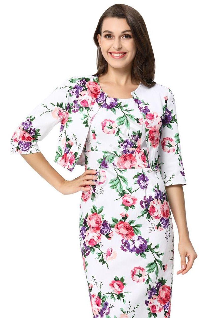 70cb4c4ed4 Sukienka kwiatowa z żakietem