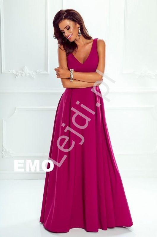1377cebdce Sukienka na wesele Klaudia o prostym eleganckim kroju