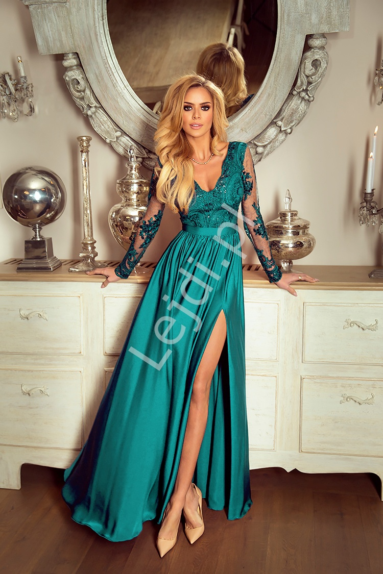 48081dcb71 Sukienka na wesele szmaragdowa