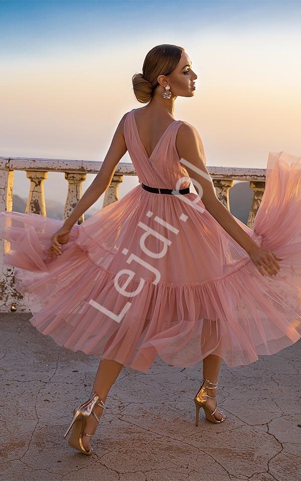 Kopertowa sukienka Paris nude