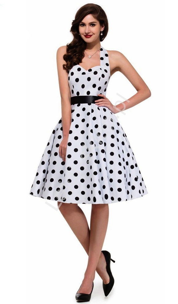 Sukienka retro pin-up w kropki | swingdres polka dots - Lejdi