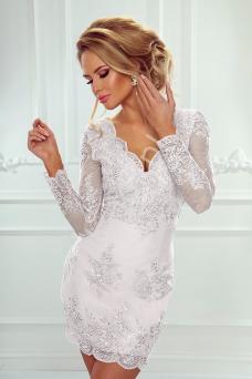 ea9173611c Sukienka ślubna koronkowa z długim rękawem - Diana