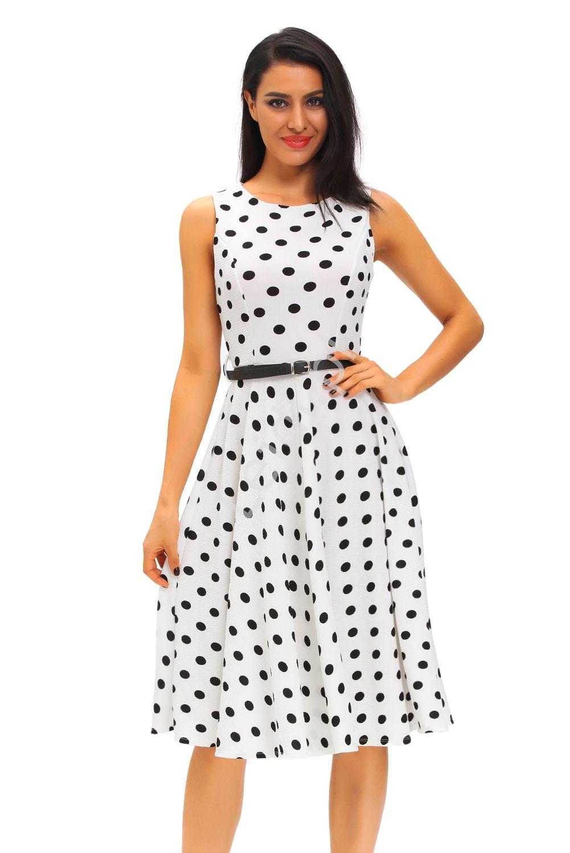 Sukienka w czarne kropki - Lejdi