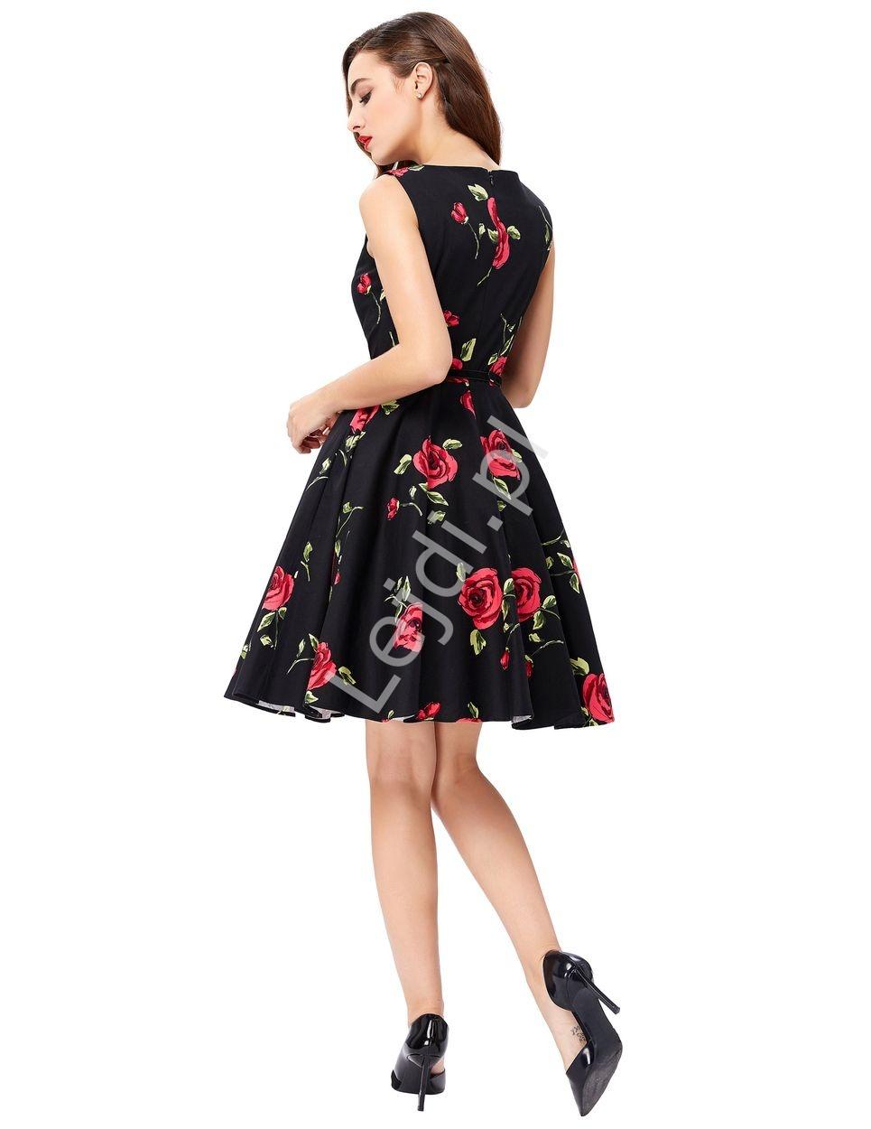 43c8d9e8 Elegancka sukienka w czerwone róże dla mamy i córki - Lejdi.pl