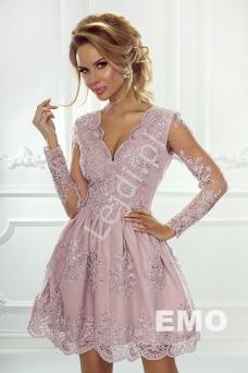 123db05771 Sukienka wieczorowa z długim rękawem