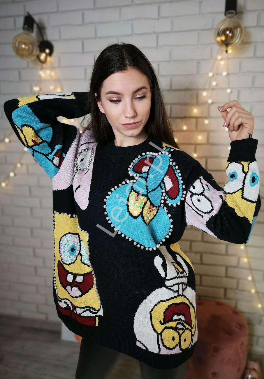 Sweter Sponge Bob LUXURY, Premium Product - Lejdi