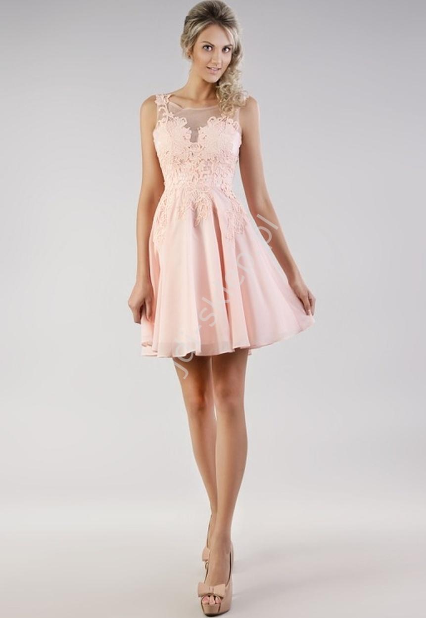 30e187d4db Szyfonowa delikatna sukienka na wesele