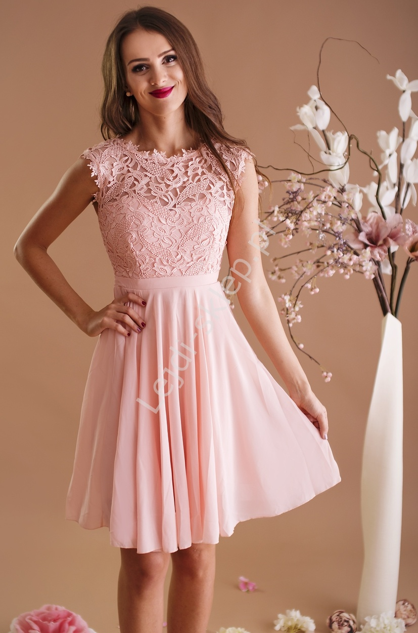 53d280199e Szyfonowa sukienka na wesela