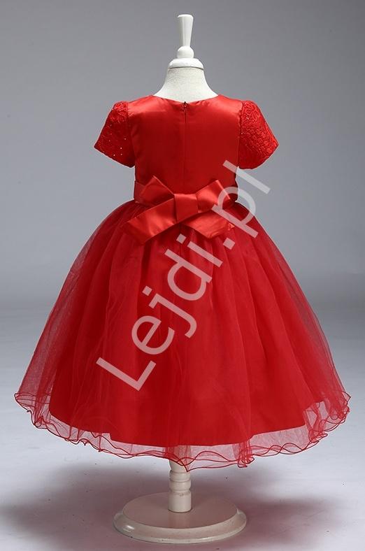 8f206322d36f91 Szyfonowa turkusowa sukienka z kwiatem w pasie dla dziewczynek ...