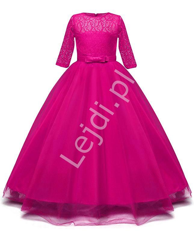 Tiulowa fuksjowa sukienka dla dziewczynki 022 - Lejdi