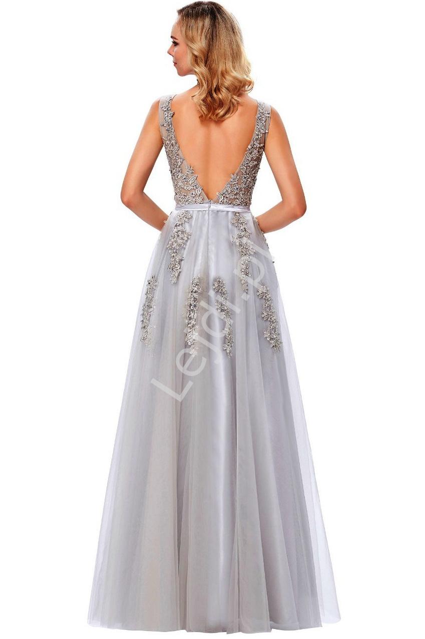 c2b8935c42 Suknia wieczorowa szara